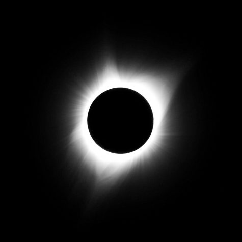 At 11:31 AM MDT, the eclipse hit maximum totality and the solar corona shines bright in the sky.