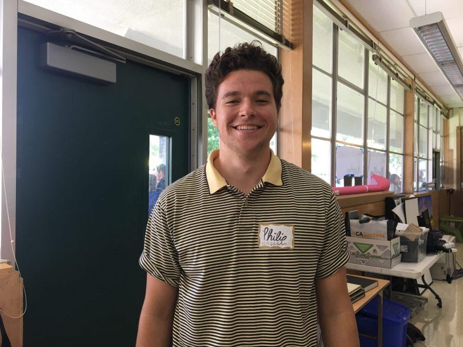 Four year ASB student, Philip Riley, looks forward to the 2017-2018 school year as president.  Photo by: Avenlea Russian