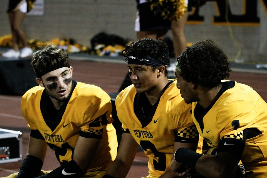 From left to right: Garden, Wick, and Gerardi had a combined 412 offensive yards.  Photo by: Ryan King