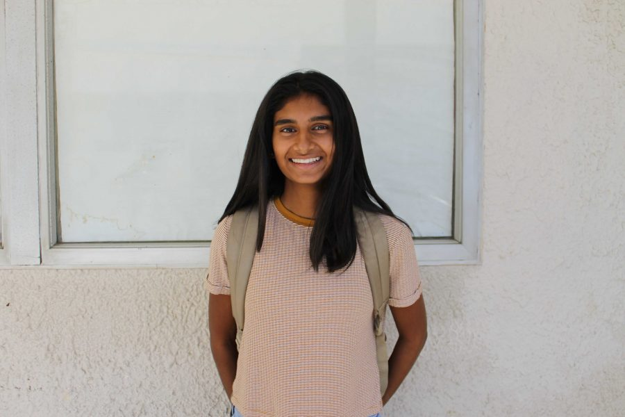 Krishnasamy is excited for her upcoming tennis matches. Photo by: Hannah Elson