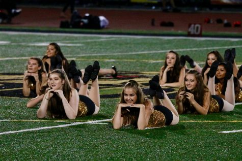 Sophomores Talia Walsh, Megan Campbell, Gwendolyn Warnock, and Chloe Escalante all strike a sassy pose to capture the audiences attention.