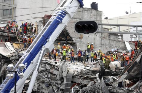 On September 19, Mexico City was shook with a magnitude 7.1 quake. After the horrendous event, the search began for victims among the wreckage. Photo by: LA Times