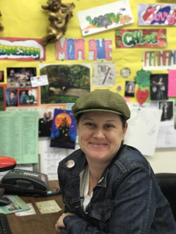 Lauren Minadeo has taught many art related classes here at VHS, currently she is teaching AP studio, Intermediate Art, Visual Arts Foundations, and Digital Photography.  Photo by: Acacia Harrell