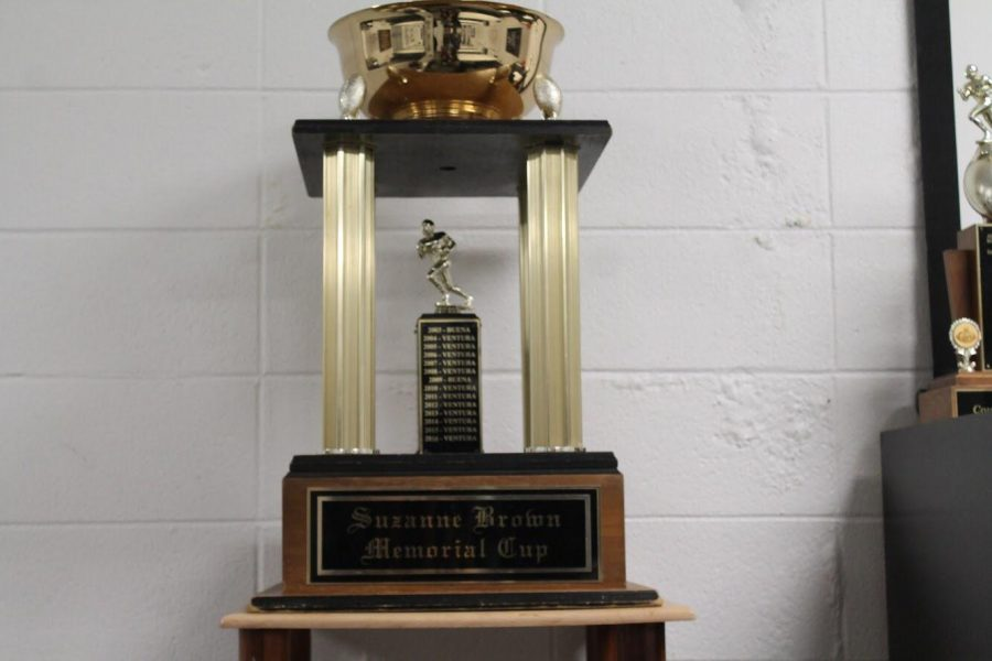The trophy is currently kept at VHS. Photo by: Billy Maxwell