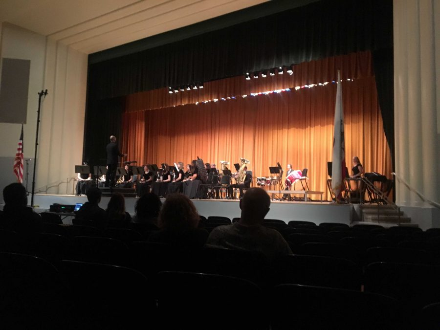 Wind Ensemble played first at the concert. One of the pieces they played was