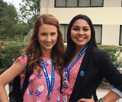 Mercado (right) sat next to Caitlin Herring (left) in the Senate, who went on to represent California in Girls Nation. Photo from: Jezel Mercado