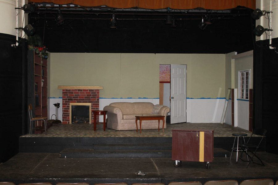 This+is+the+stage+progress+for+the+play+so+far.+Stagecraft+has+been+working+on+it+since+the+first+week+of+school.+Photo+by%3A+Archer+Herring