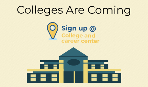 Colleges coming to the college and career center