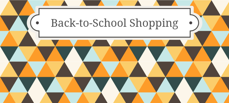 """Did you go """"Back-to-School"""" shopping?"""