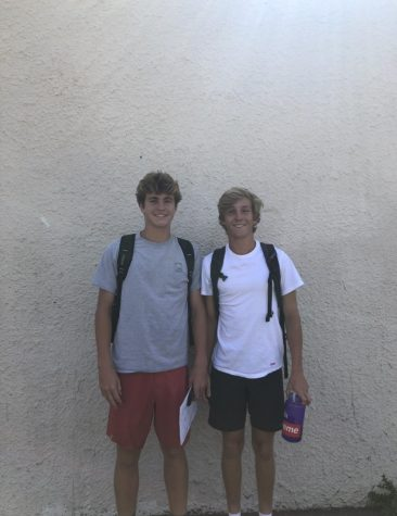 Juniors Theo Warren and Chase Currie say,