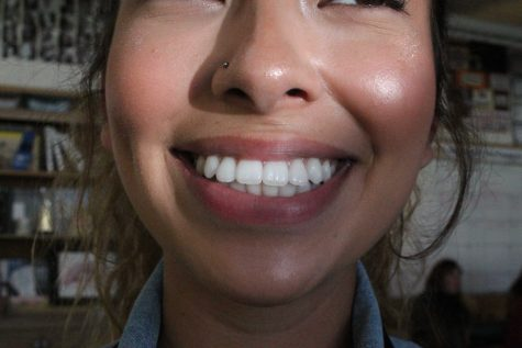 This is what senior Saida Delgadillo's teeth look like after having had traditional metal braces for four years. Photo by: Summer Yovanno