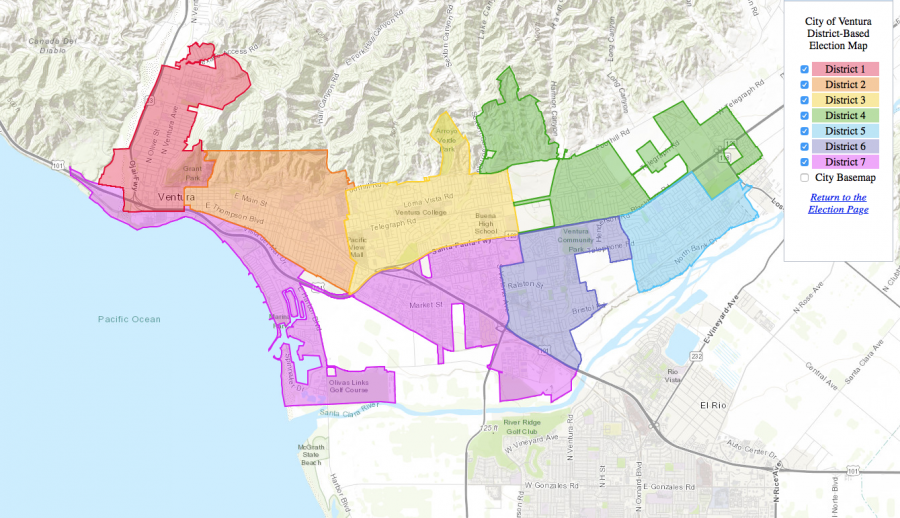 This year, Ventura has transitioned to district based elections for city council. Photo from: cityofventura.ca.gov