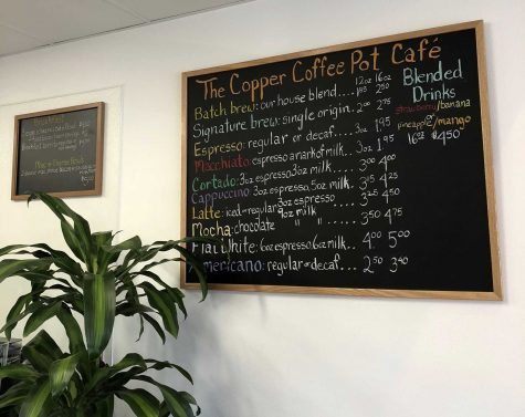 The Copper Coffee Pot offers a variety of beverages for its customers. Photo by: Tatum Luoma