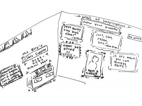A classroom in 2033 belonging to a member of Generation Z. Cartoon by: Juliana Jacobson