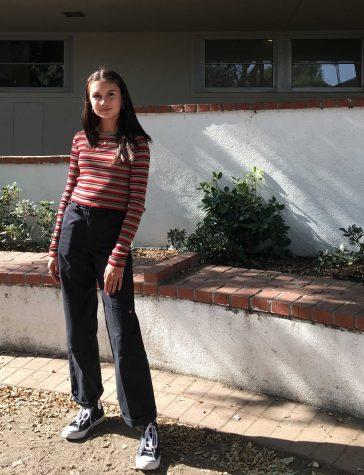 Freshman Jayla Ramirez showing off her style. She commented,