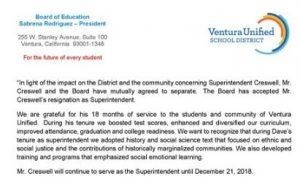 Creswell resignation accepted, Dr. Jeff Davis interim superintendent