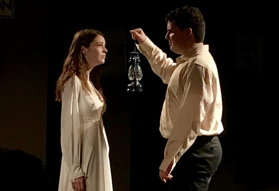 Seniors Louis Santia and Brooke Stevenson perform a scene from an altered version of Arthur Miller's play,