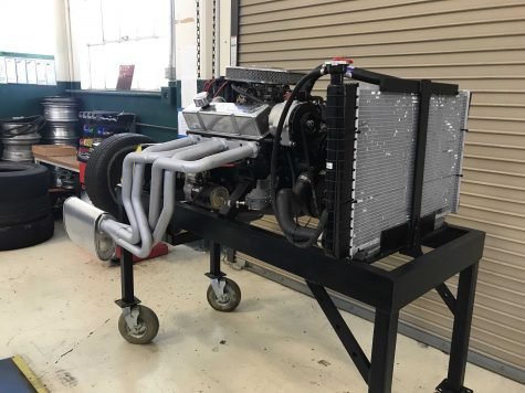 This General Motors Chevrolet 350 V8 engine will be on display during the car show.