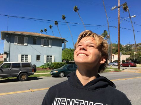 Senior Cole Stender believes that more sunlight makes people happier. Photo by: Jezel Mercado