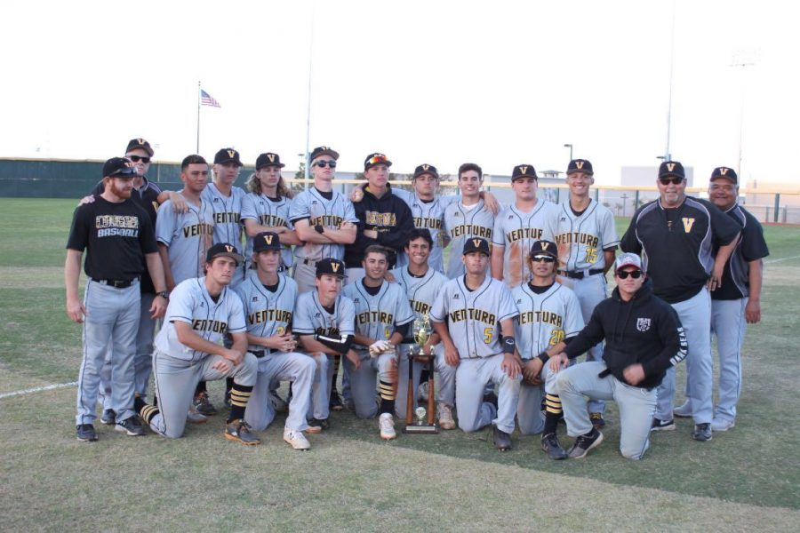 The varsity Cougars went three and two in the tournament and received a trophy for earning second place. Photo by: Juan Jaquez