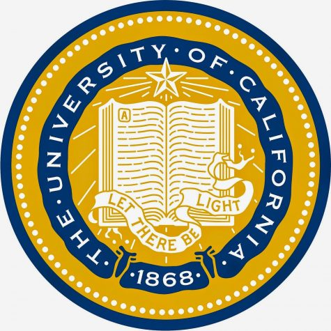 The school seal of UC Berkley; the University is the subject of this interview Gracie Morrison attends.
