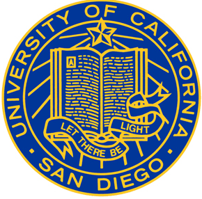 The school seal of UCSD, of which this articles subject Lindsey Clark attends.