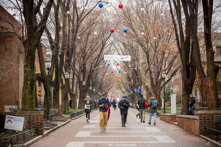 Photograph of one of The University of Pennsylvanias student thoroughfares. Photo by Thom Carroll /Philly Voice