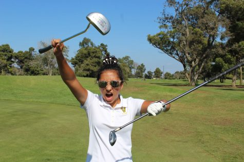 """I joined golf to try something brand new as I came into freshman year,"" explains Junior Lili Ramos. ""I wanted to meet new people and grow closer to my grandpa since he also plays golf."" Photo by: Anna Guerra"