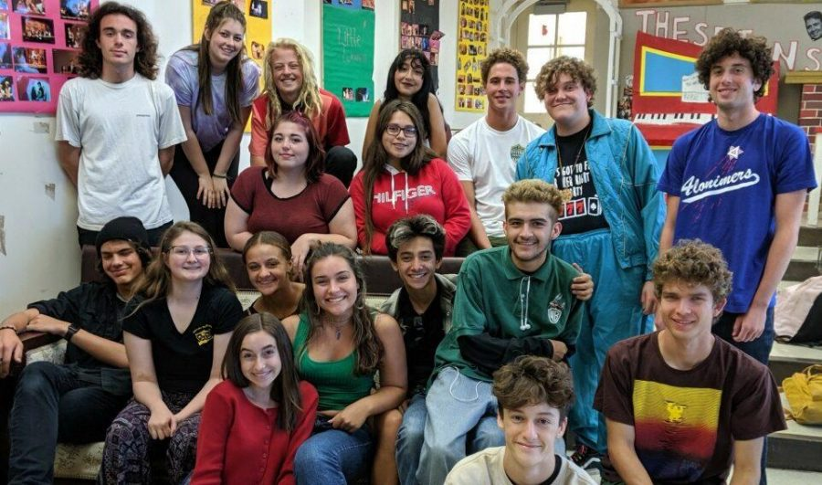The What? Improv Troupe bonding and getting to know each other at their first meeting during lunch. Photo from: Ms Rossiter