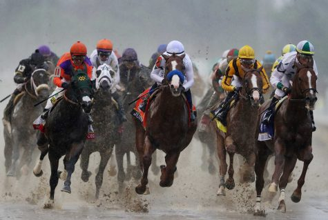 to win the 144th running of the Kentucky Derby at Churchill Downs on May 5, 2018 in Louisville, Kentucky.