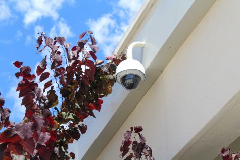 Security camera that overlooks the school