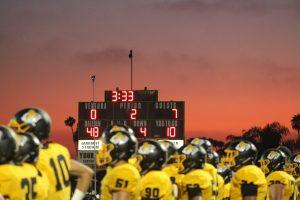 First football game of the fall 2019 season against Santa Barbara High. Photo by: Logan Wilkov