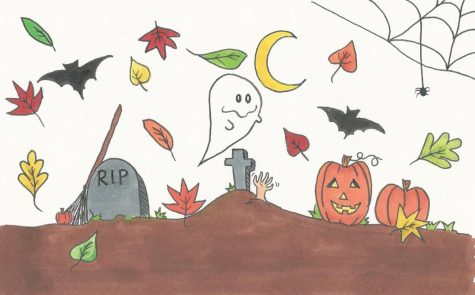 Our modern day Halloween descended from various ancient traditions and festivals from nearly 2,000 years ago! Drawing by: Yasmin Myers
