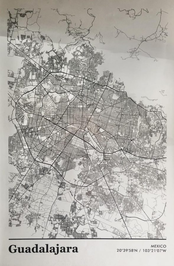 This+map+depicts+the+many+town+areas+in+the+city+of+Guadalajara.+According+to+the+World+Population+Review+about+5%2C179%2C479+people+inhabit+Guadalajara.+Photo+by%3A+Alexis+Mendoza