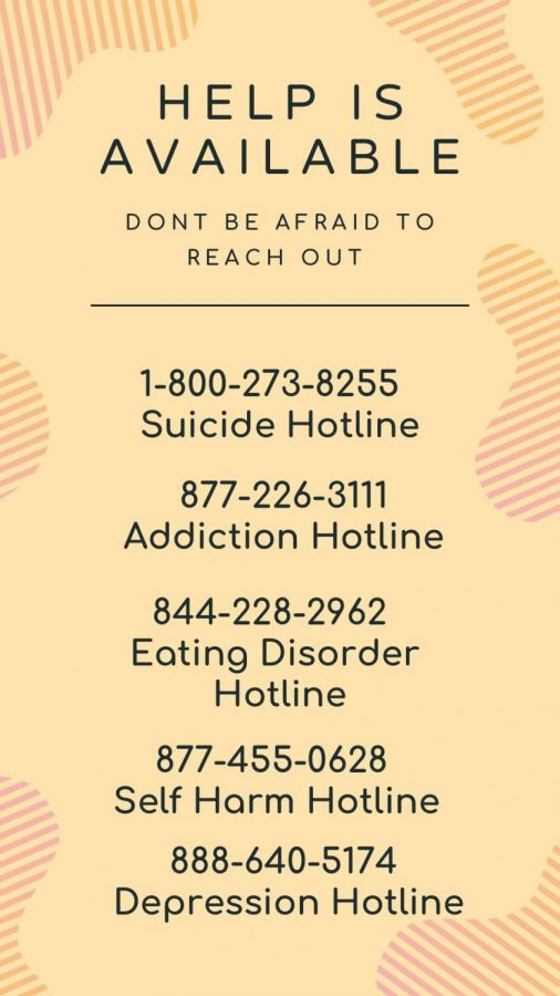 Reaching out for help when you need it is an important part of caring for yourself. Here are some resources available to you. Infographic by: Logan Wilkov