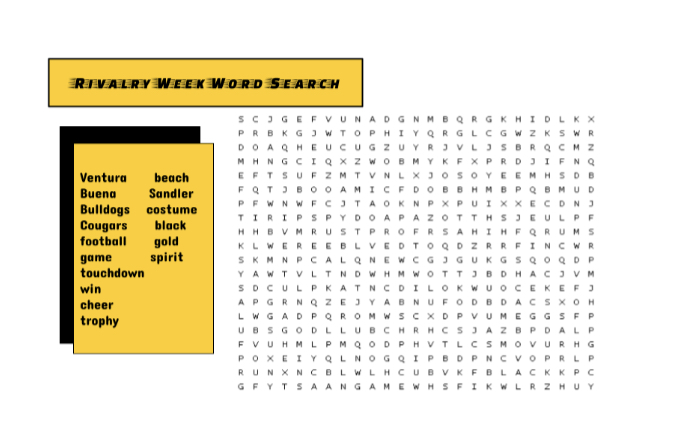 Rivalry week word search