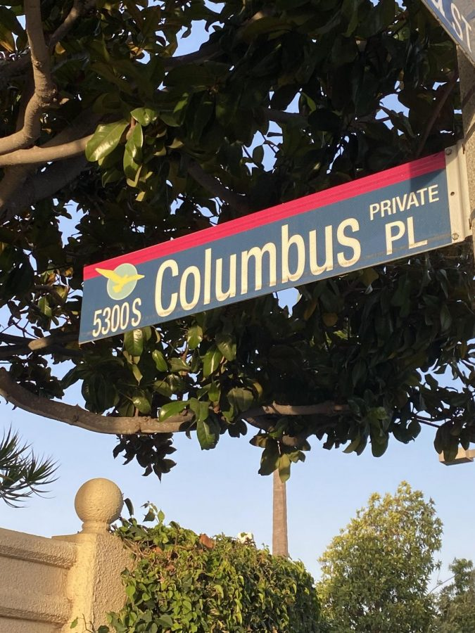 Columbus Place in Oxnard is another reminder of just how much Columbus has been ingrained to our society. Photo by: Brody Daw