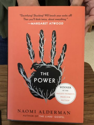 The Power by Naomi Alderman. The book was positively received by critics and readers alike. It won the Baileys Womens Prize for Fiction, as shown here. Photo by: Rowan Munoz