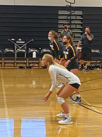 My coach always tells me to take a deep breathe before I receive the ball and thats what I was thinking about in that moment, said junior Marley Haener. Photo by: Amy Haener